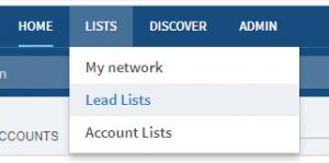 Lead Lists in LinkedIn Sales Navigator