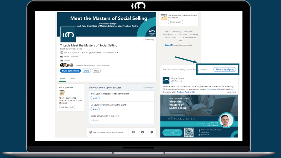 LinkedIn Events Form